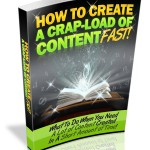 how to create conten fast